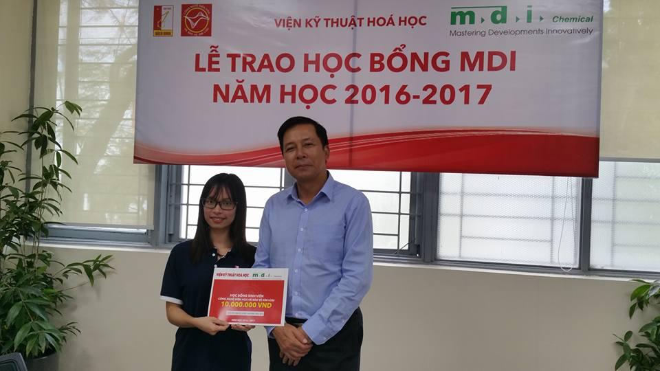 Lễ Trao học bổng MDI cho sinh viên Ngành Điện hóa - Bộ môn công nghệ điện hóa và bảo vệ bề mặt kim loại – Viện kỹ thuật hóa học – Đại học Bách Khoa Hà Nội